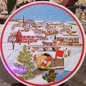 Vintage Christmas, Tin, Village